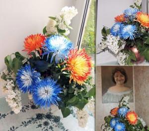 24-й букет и портрет Ирины Шухаевой.