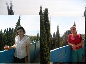 Ирина и Анастасия Шухаевы. Симеиз. Сентябрь 2013