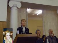 Ирина Шухаева на дне открытых дверей в Литературном Институте, 6 апреля 2013