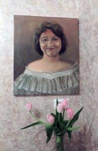 Портрет Ирины Шухаевой, работа Инны Мень